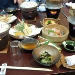 最後にデザートの抹茶ゼリー☆クリーミーでおいしかった( ^)o(^ )