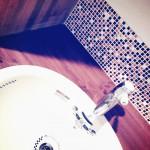 落ち着いた雰囲気の洗面台