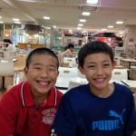 12歳同士の息子たち、身長も全く同じくらい♪