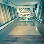 名古屋で天然木の床材を視察してきました。