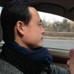 中国では友達の孫さんとドライブ。