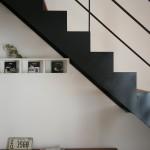 コウちゃんお気に入りの鉄骨木製階段