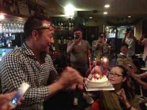 松本社長の誕生日会も一緒にやりました!(^^)!50歳の誕生日おめでとう!