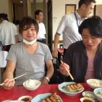 川堀兄弟と宇都宮名物の餃子を食べに・・・。初の「みんみん」の餃子定食。焼き餃子と水餃子付で580円って安いですよね。