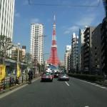 東京タワーを見ながら山梨へ