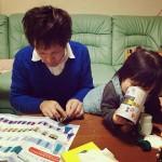 自分の実家では折り紙を折って子供と楽しみました。