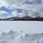 岩手山。富士山と同じくらいキレイな山でした。