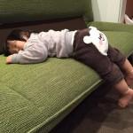 寝る態勢①