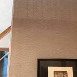 塗り壁の掻きおとしの写真。 どこかで使いたいと思っている塗り方。今回は分かりにくい写真ですみません(^_^;)