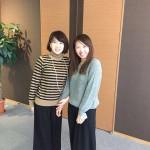 この日は、たまたま双子のようなファッションでした♡