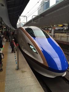 金沢行きの新幹線
