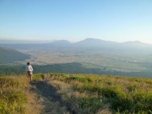 2011年、阿蘇市の大観峰に行った時の写真。広大な景色が美しいです。