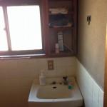 リフォーム前。2階手洗い。