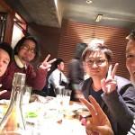 左から山本工務店の英雄さん、川堀工務店のオサムちゃん、山本兄さん、未来建築工房タクちゃんはこの後合流