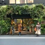 別のお店ですが、店舗入り口を囲むように配置された本物グリーンの迫力にびっくり!
