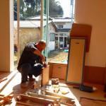 建具工事担当の尾崎さんです^^
