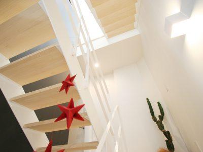 3つのスキップフロアのあるシンプルスタイリッシュなカッコいいお家が土佐山田町に完成しました。