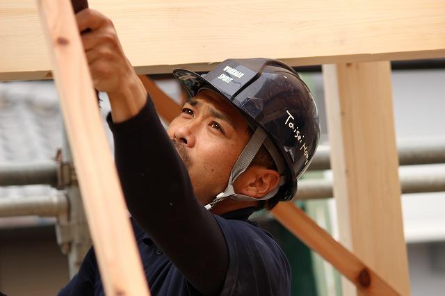タイセイホーム大工の森崎棟梁。自然素材と、オシャレな家と、オーダーメイドの家を建ててくれています。