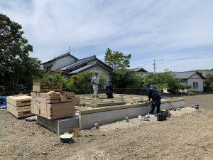 高知県南国市。新築工事がスタート。
