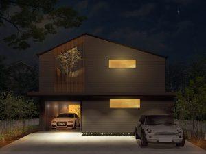 高知県香南市野市町西野にガレージと中庭をコンセプトにしたモデルハウスを建築中です。オシャレなデザインと超高性能、自然素材までを兼ね備えた、遊び心のある「ie monogatari」のコンセプトハウス(企画住宅)です。