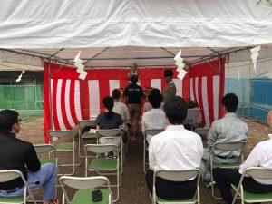 高知市大津にて、新築工事の地鎮祭